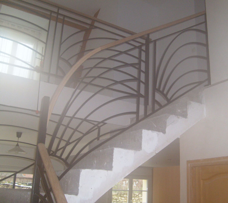 Pin rampe d escalier on pinterest - Rampe d escalier exterieur ...